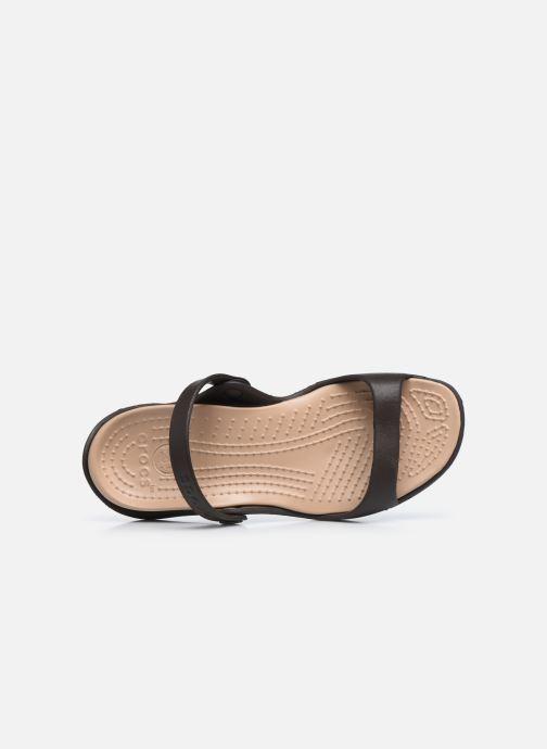 Sandalias Crocs Cleo Marrón vista lateral izquierda