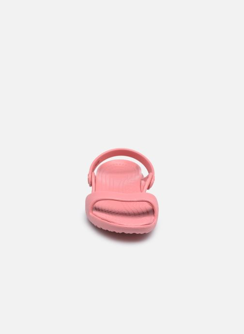 Sandalen Crocs Cleo rosa schuhe getragen