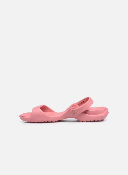 Sandalias Crocs Cleo Rosa vista de frente