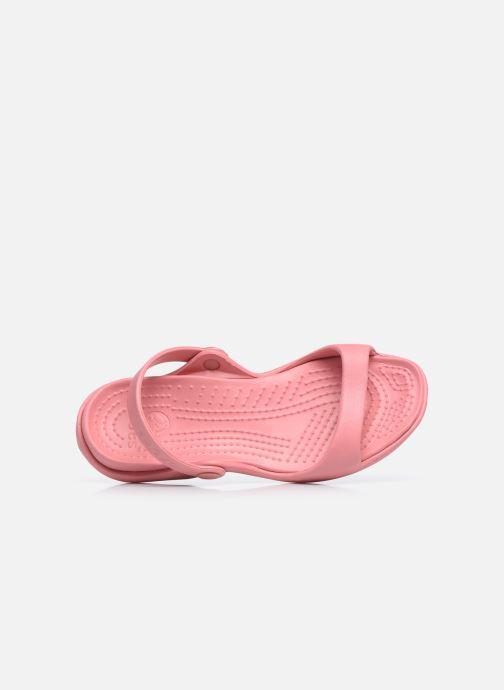 Sandalen Crocs Cleo rosa ansicht von links