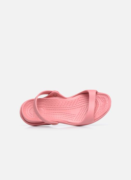 Sandalen Crocs Cleo Roze links