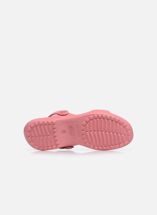 Sandalias Crocs Cleo Rosa vista de arriba