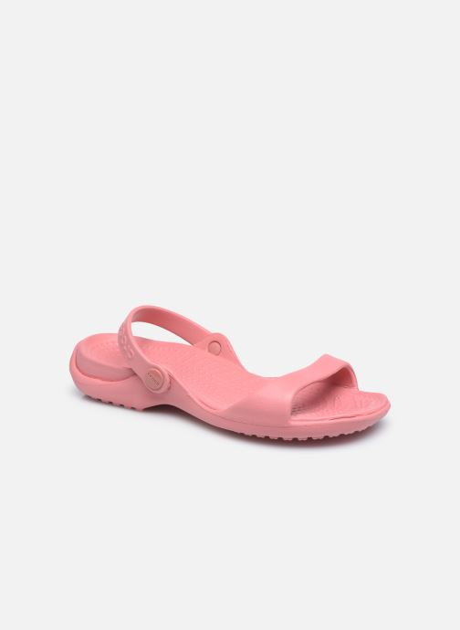 Sandalias Crocs Cleo Rosa vista de detalle / par