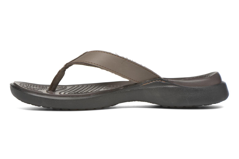 Tongs Crocs Crete Colorlite Flip M Noir vue face