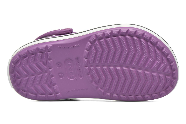 Sandales et nu-pieds Crocs Crocsband Kids Violet vue haut