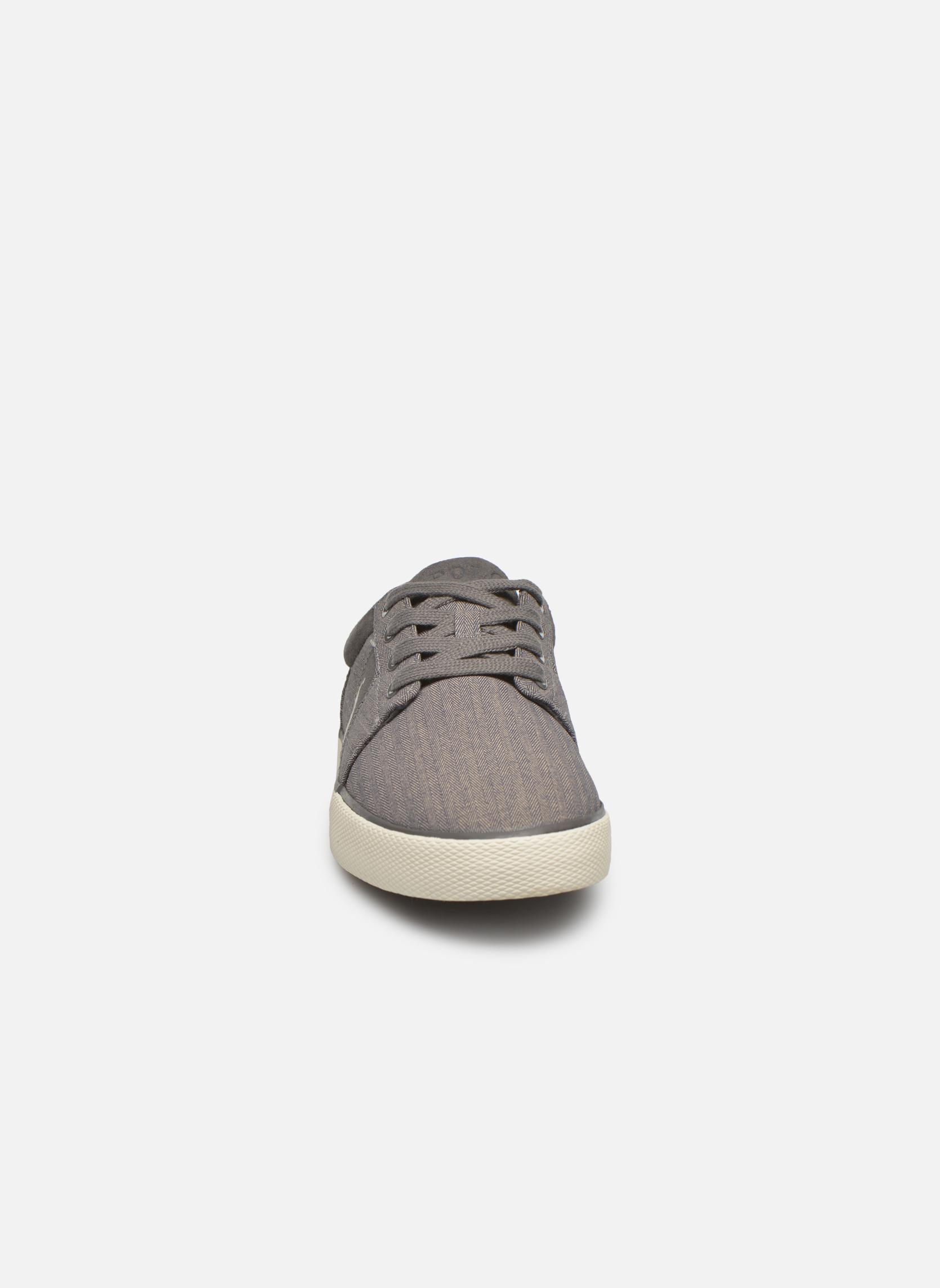 Baskets Polo Ralph Lauren Halmore II Gris vue portées chaussures