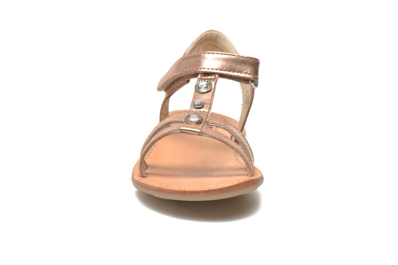 Sandales et nu-pieds Noël Solène Rose vue portées chaussures