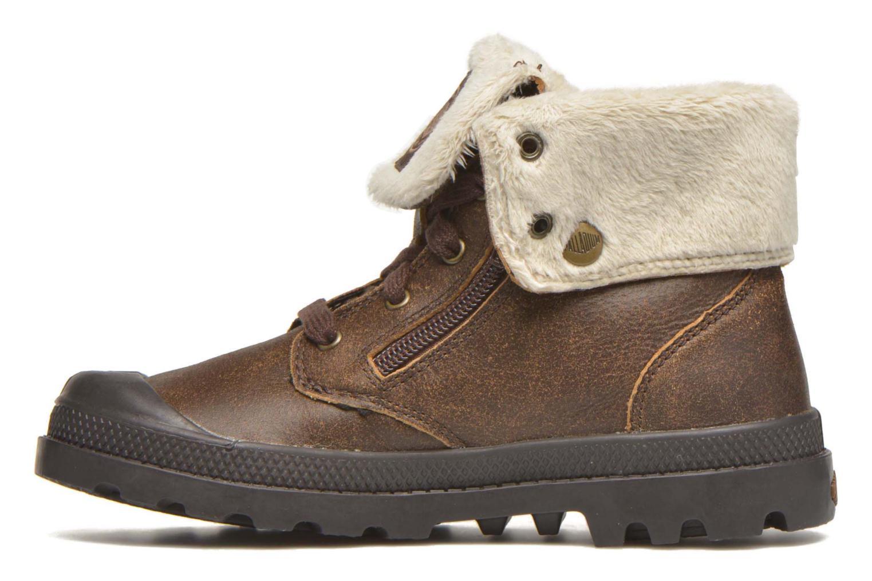 Boots en enkellaarsjes Palladium BGY L ZIP FS K Bruin voorkant