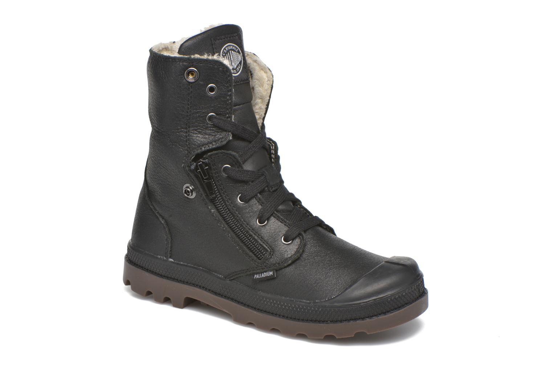 Bottines et boots Palladium BGY L ZIP FS K Noir vue 3/4