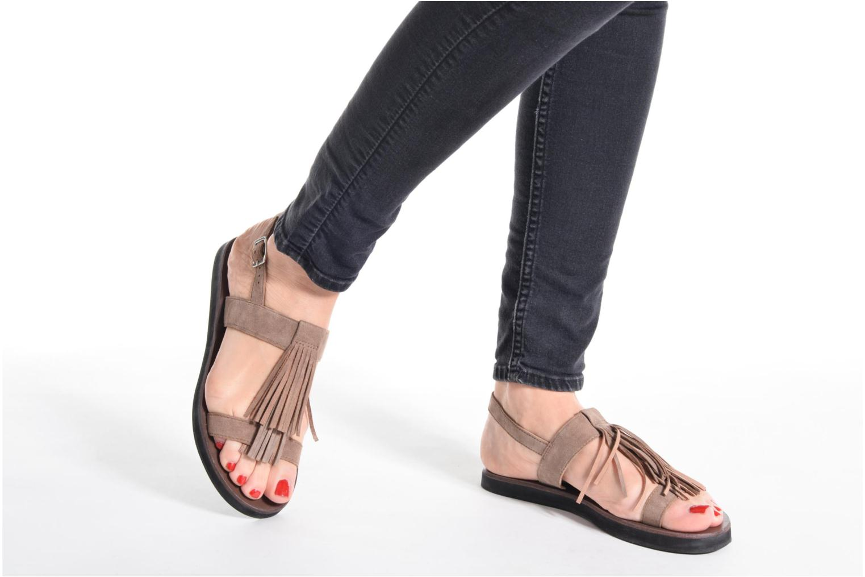 Sandales et nu-pieds Elizabeth Stuart Perrys 606 Beige vue bas / vue portée sac