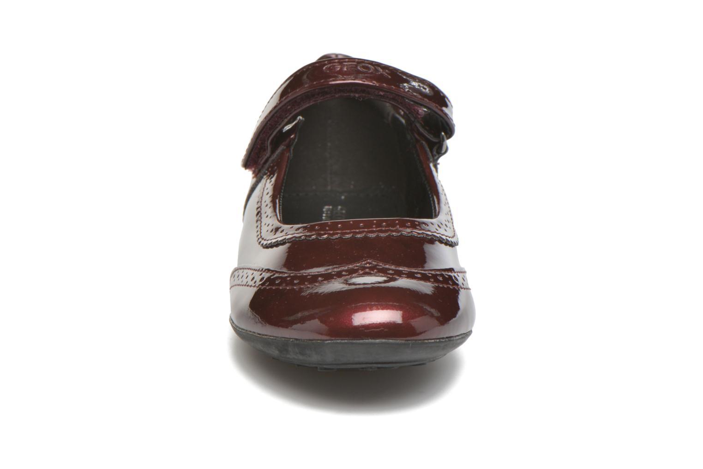 Ballerines Geox JR Plie' J5455F Bordeaux vue portées chaussures
