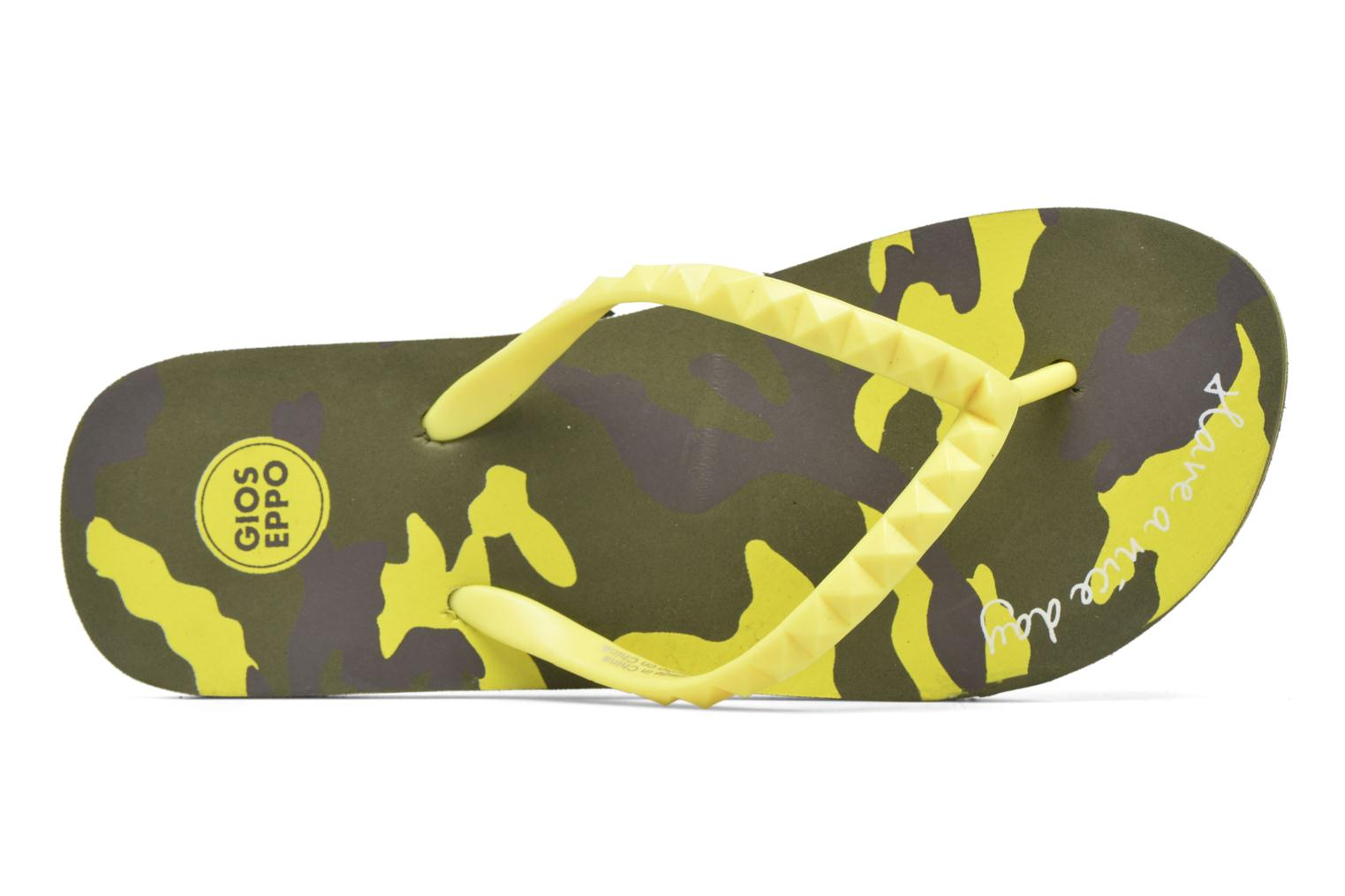 Flip flops Gioseppo Frappe Yellow view from the left