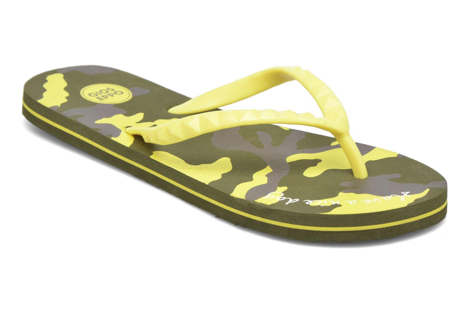 Flip flops Gioseppo Frappe Yellow detailed view/ Pair view