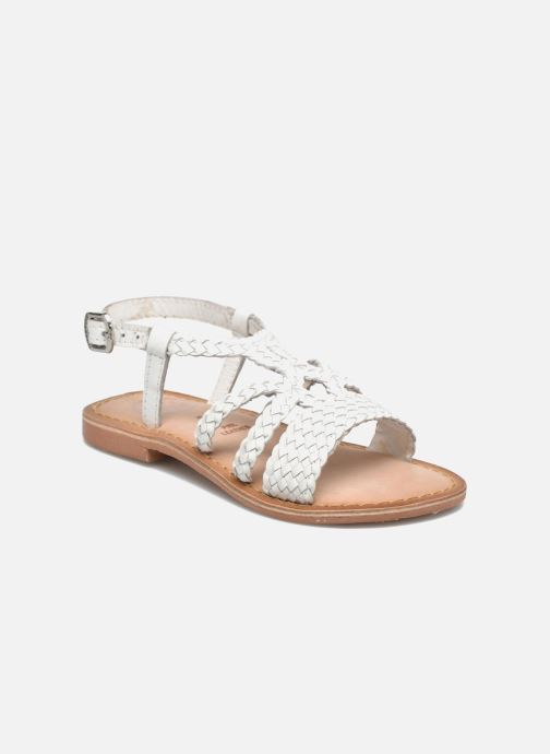Sandals Gioseppo Jacinthe White detailed view/ Pair view
