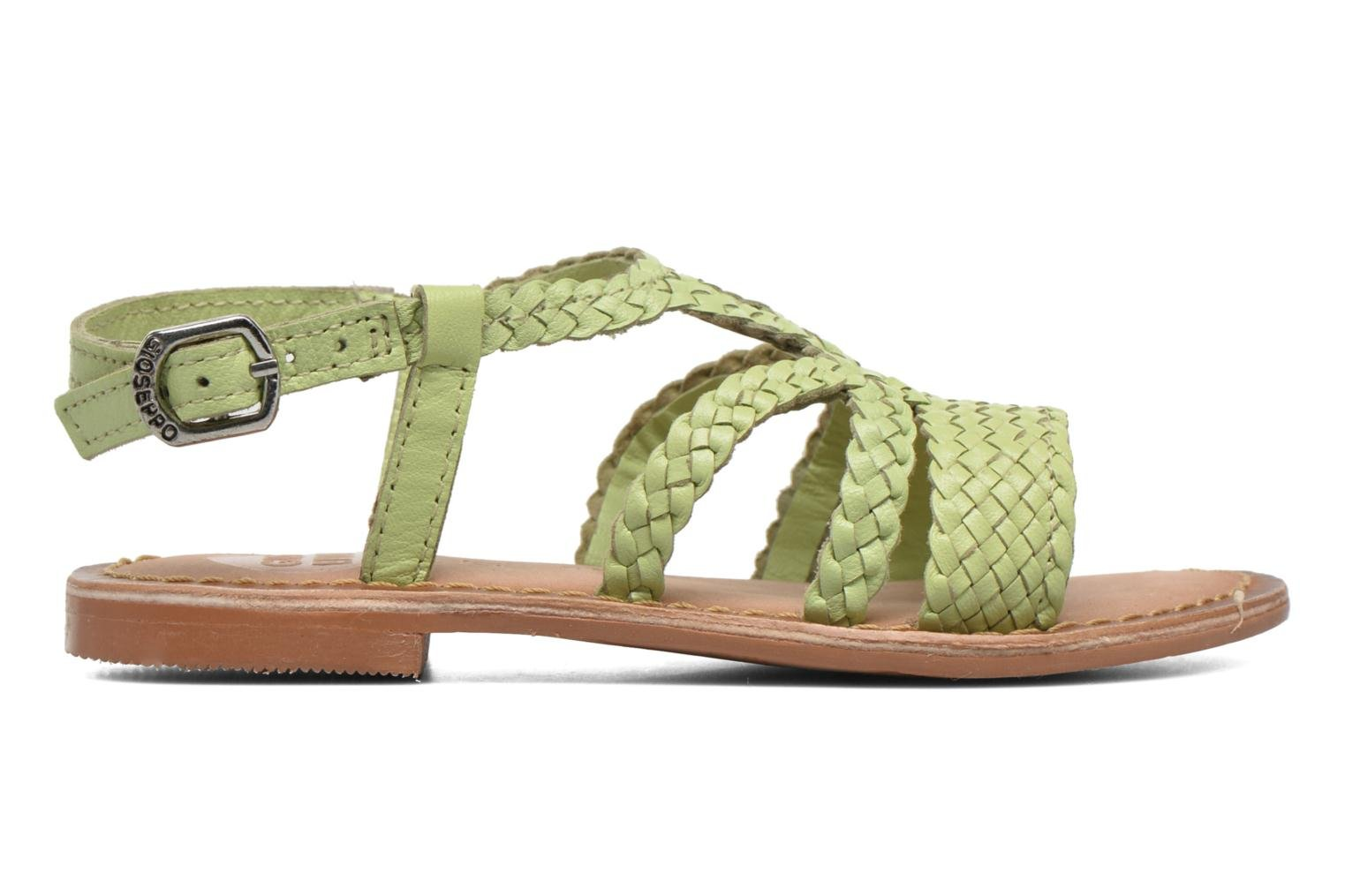 Sandals Gioseppo Jacinthe Green back view