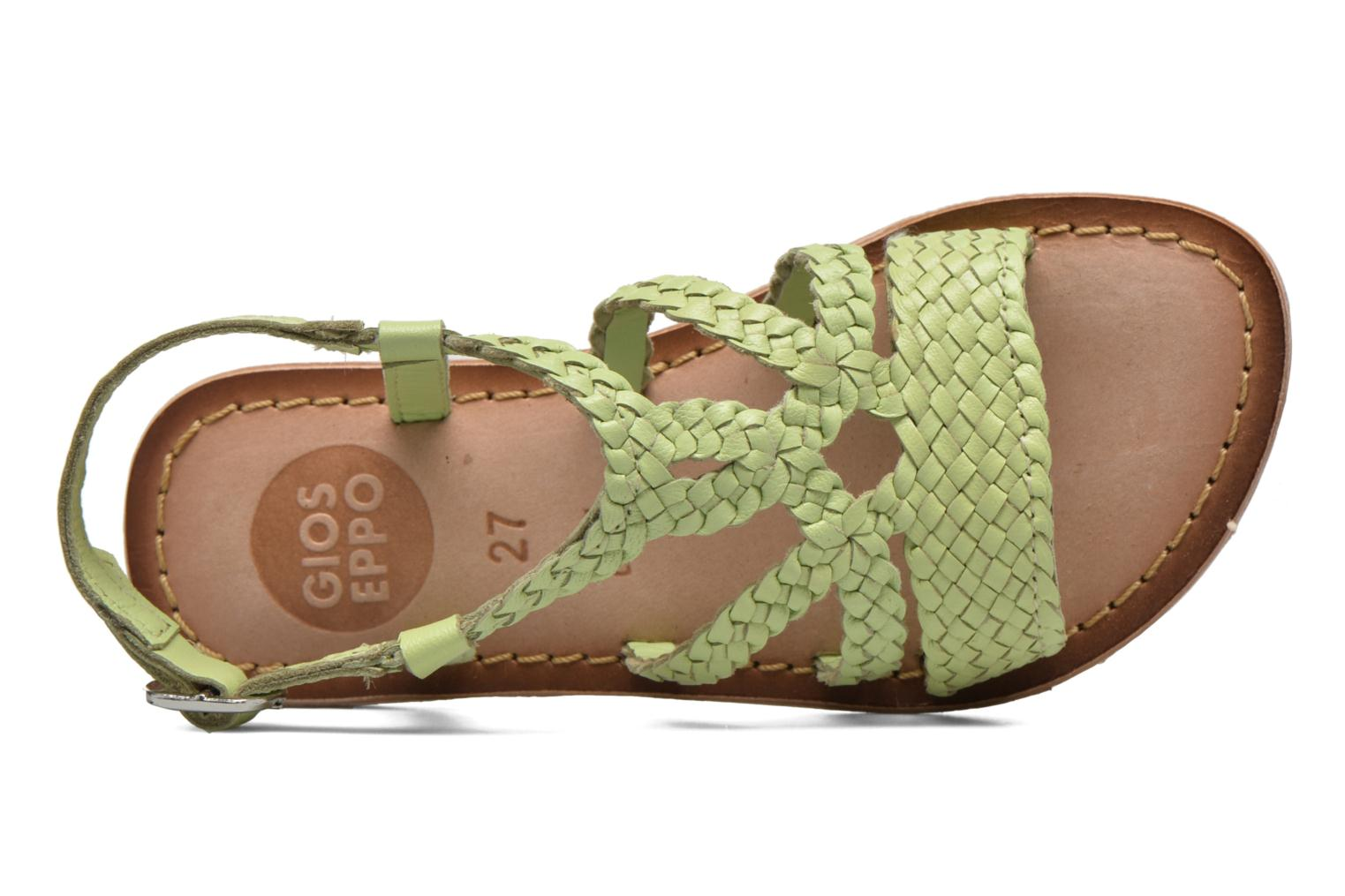 Sandals Gioseppo Jacinthe Green view from the left