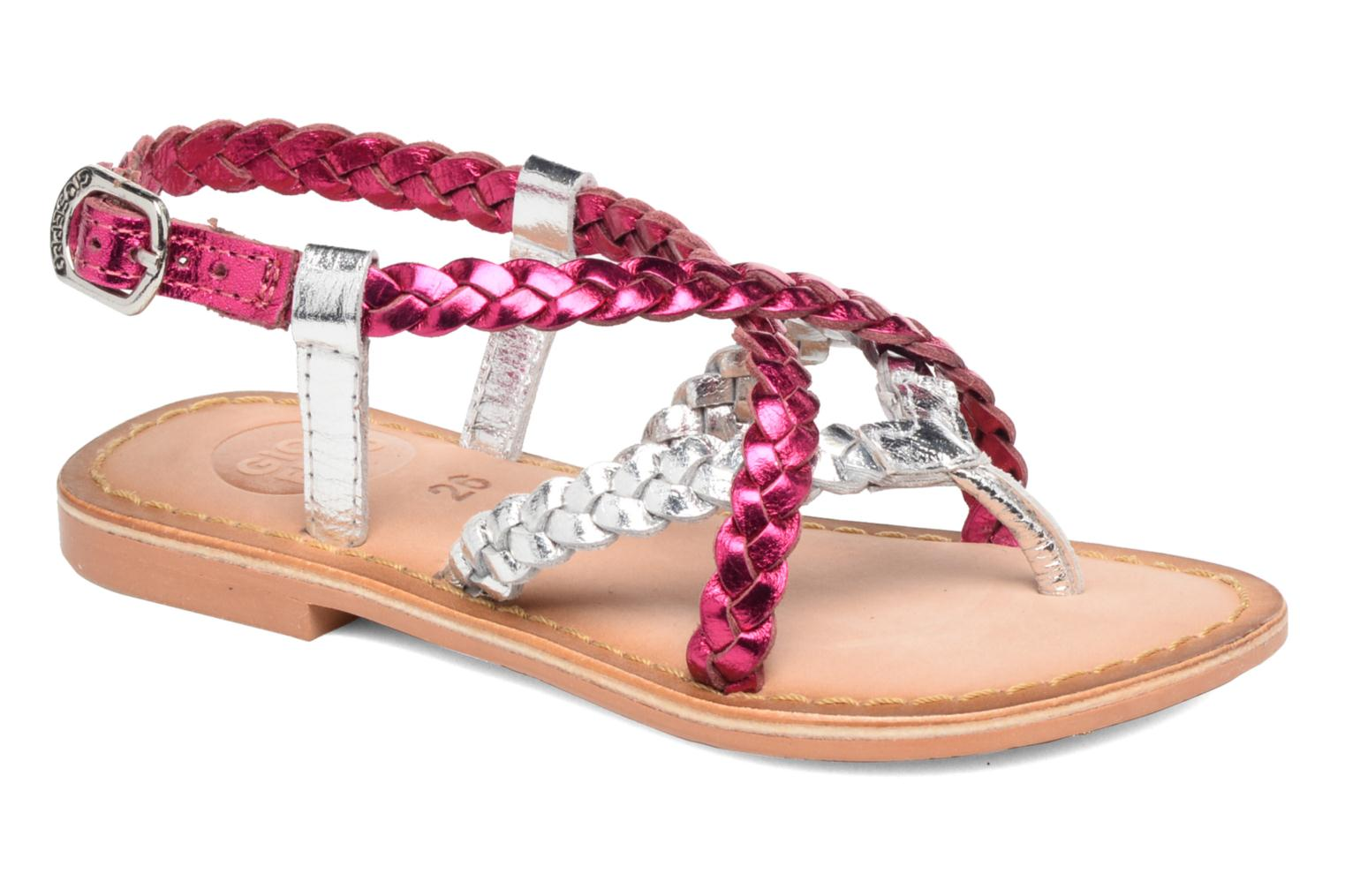 Sandals Gioseppo Orchidee Pink detailed view/ Pair view