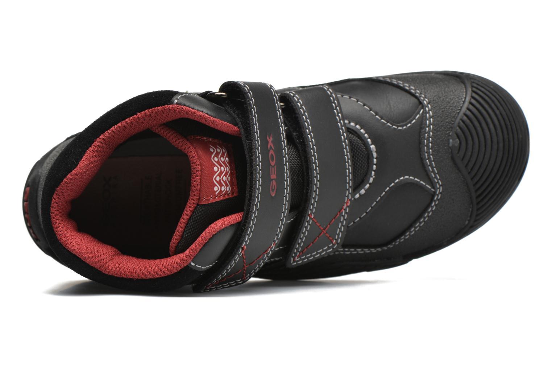 Sneaker Geox JR Savage J5424A schwarz ansicht von links
