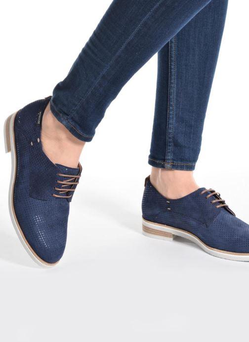 Chaussures à lacets Mephisto Poppy Beige vue bas / vue portée sac