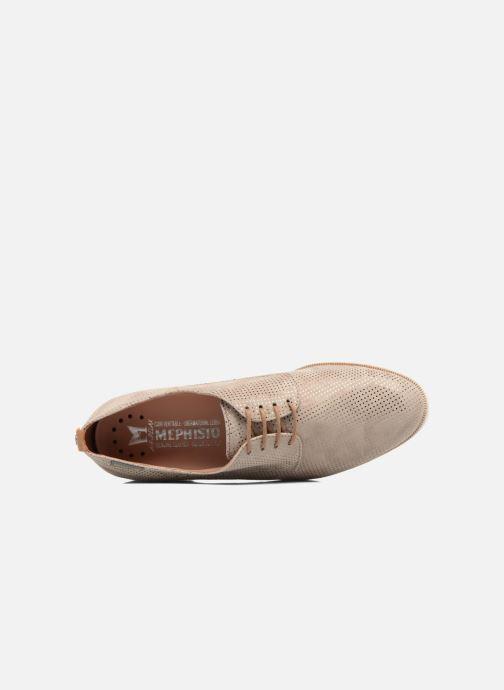 Chaussures à lacets Mephisto Poppy Beige vue gauche