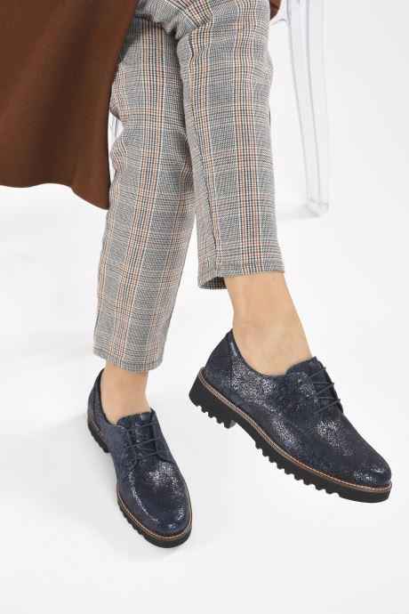 Chaussures à lacets Mephisto Sabatina Bleu vue bas / vue portée sac