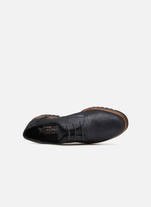 Lace-up shoes Mephisto Sabatina Blue view from the left