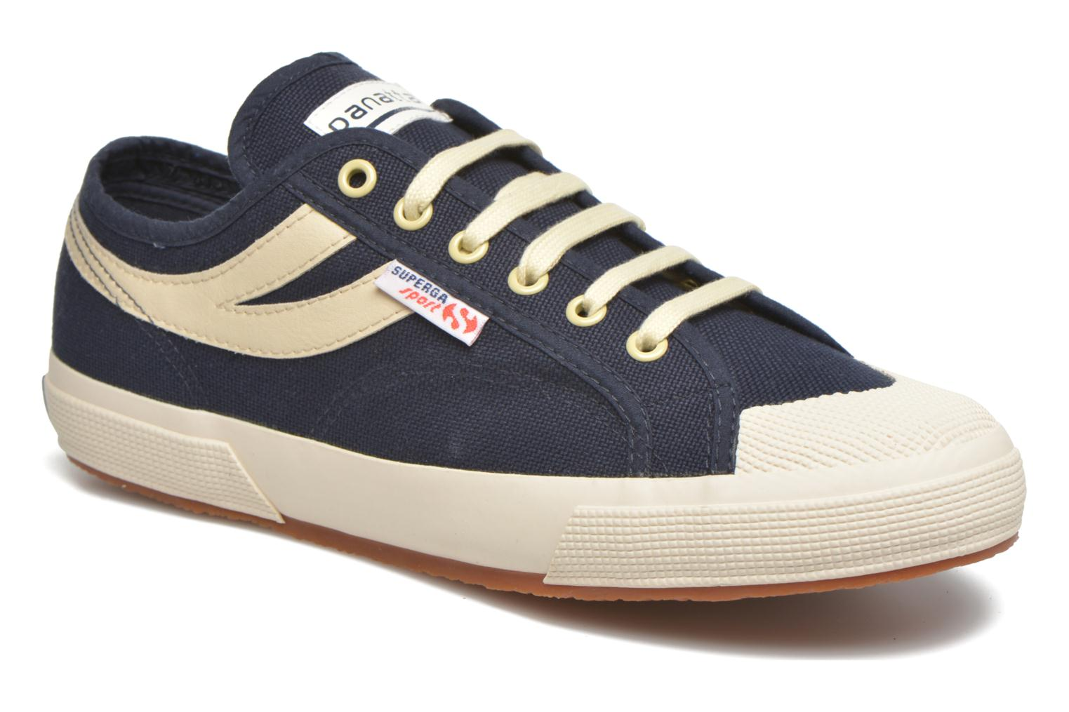 Trainers Superga 2750 Cotu Panatta Blue detailed view/ Pair view