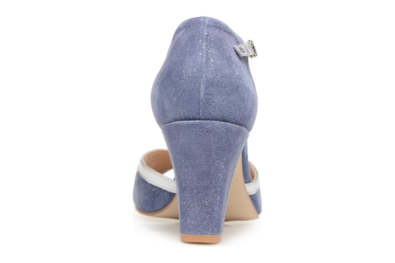 Zapatos de tacón Jonak Damaris Azul vista lateral derecha