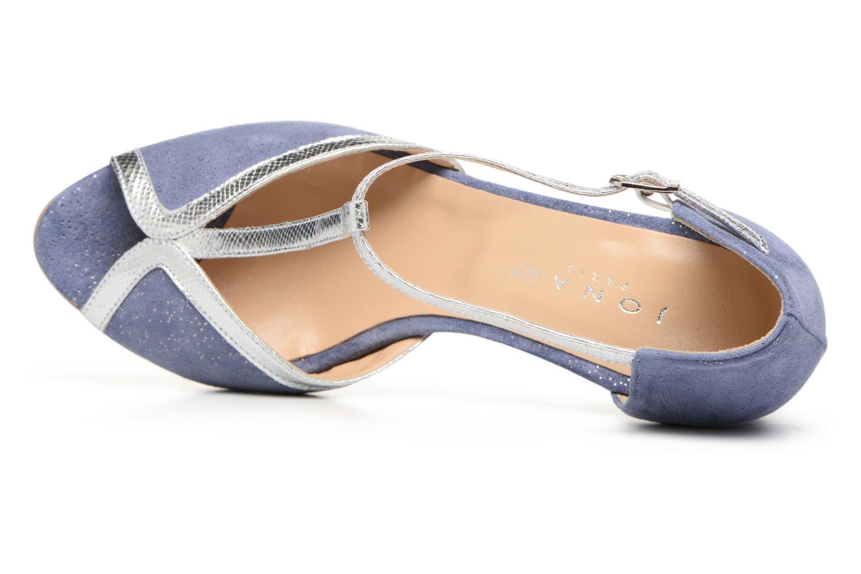 Zapatos de tacón Jonak Damaris Azul vista lateral izquierda