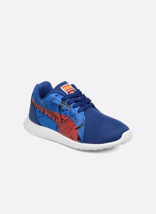 6104fed0d9dfd Baskets Puma Inf St Trainer Superman   Ps St Trainer Superman Bleu vue  détail paire