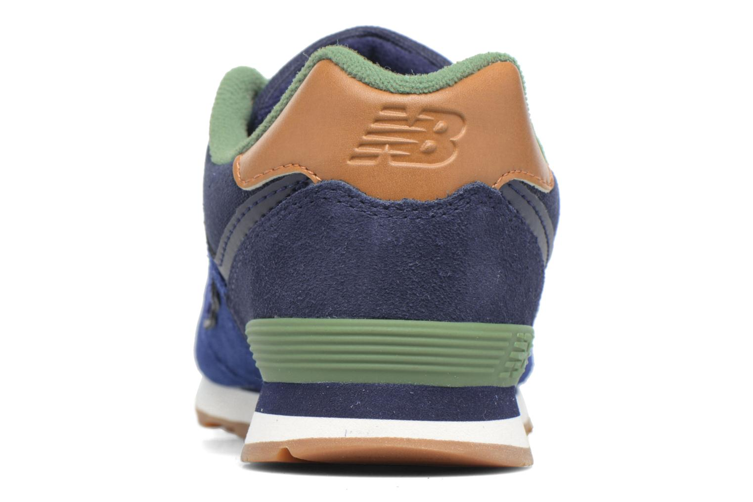 Trainers New Balance KL574 M Blue view from the right