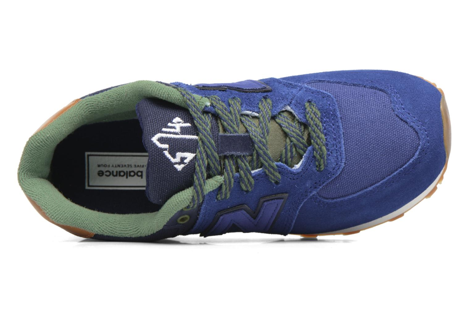 Trainers New Balance KL574 M Blue view from the left