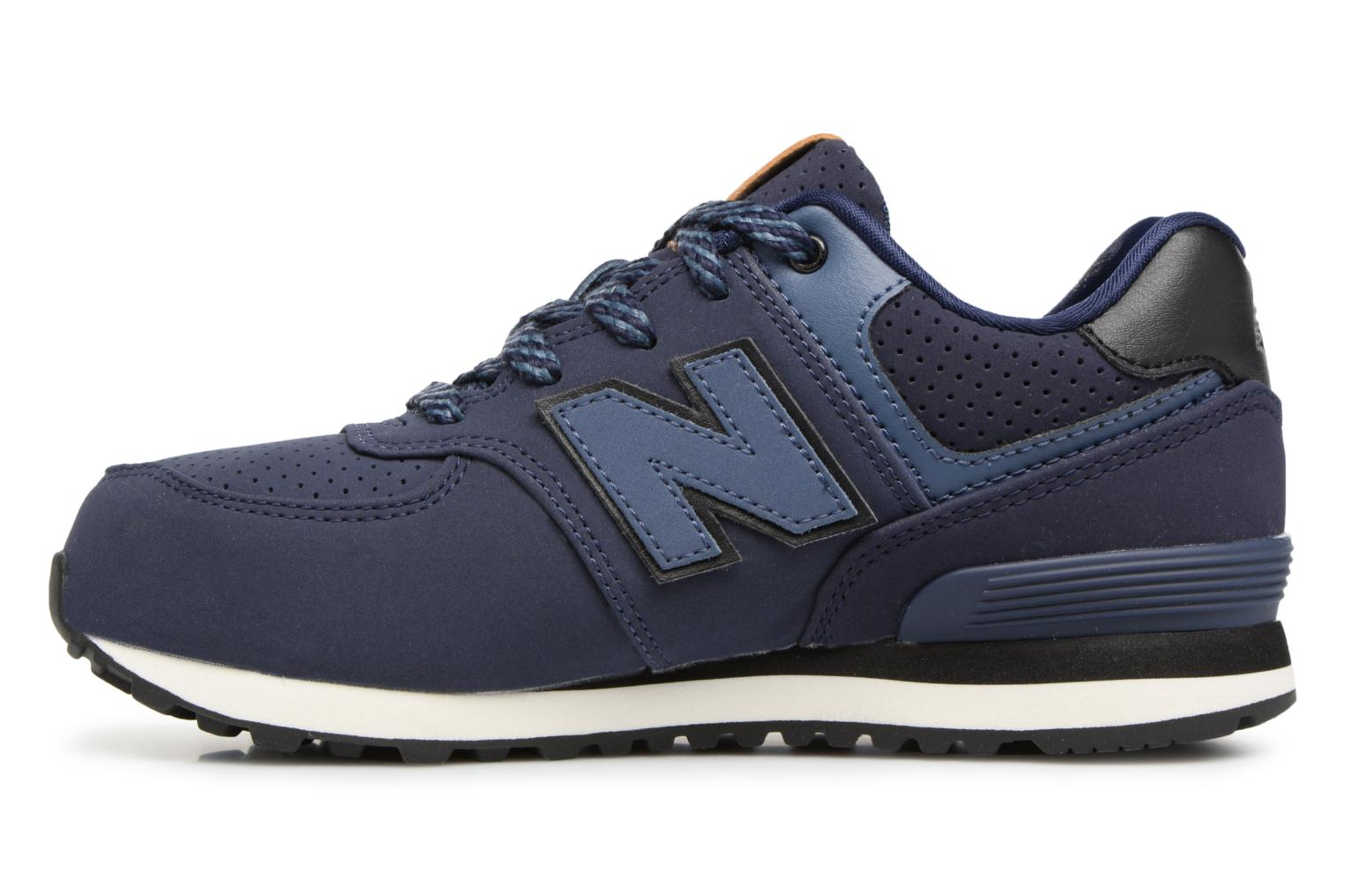 Baskets New Balance KL574 M Bleu vue face