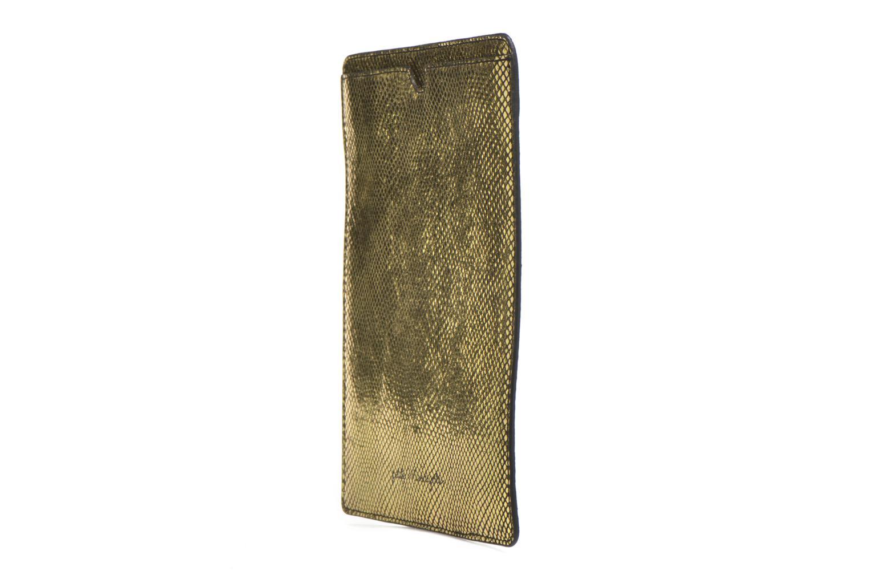 Kleine lederwaren Petite mendigote Big Etoile Porte iPad Goud en brons model