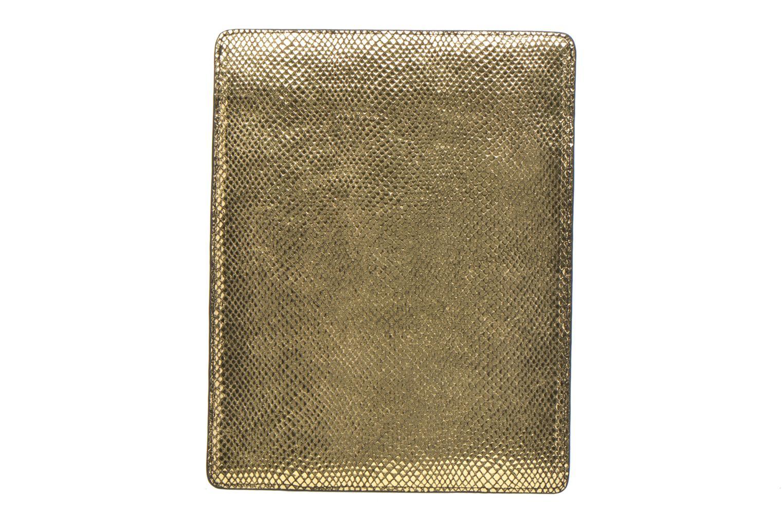 Kleine lederwaren Petite mendigote Big Etoile Porte iPad Goud en brons voorkant