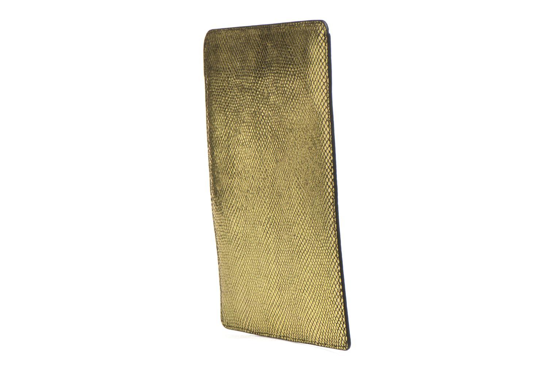 Marroquinería pequeña Petite mendigote Big Etoile Porte iPad Oro y bronce vista lateral derecha