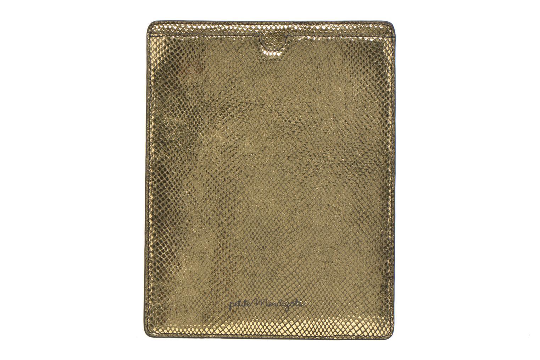 Marroquinería pequeña Petite mendigote Big Etoile Porte iPad Oro y bronce vista de detalle / par