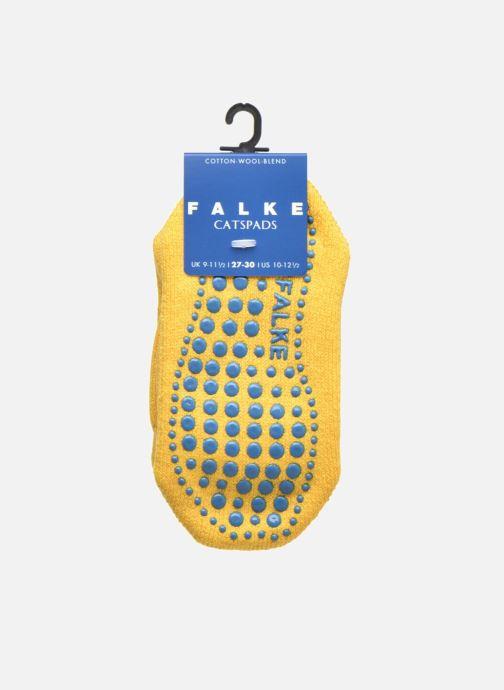 Socken & Strumpfhosen Falke Chaussons-chaussettes Catspads gelb ansicht von hinten