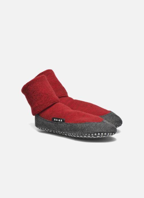 Chaussettes et collants Falke Chaussons-chaussettes Cosyshoes Rouge vue  détail paire 98d5b9435380