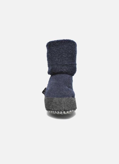 Chaussettes et collants Falke Chaussons-chaussettes Cosyshoes Bleu vue portées chaussures