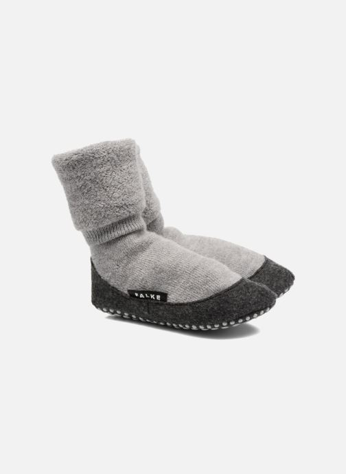 Chaussettes et collants Falke Chaussons-chaussettes Cosyshoes Gris vue détail/paire