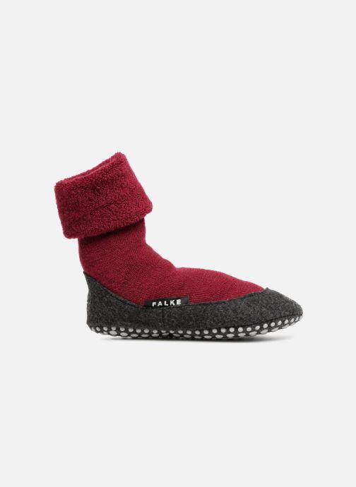 Socken & Strumpfhosen Falke Chaussons-chaussettes Cosyshoes rot ansicht von hinten