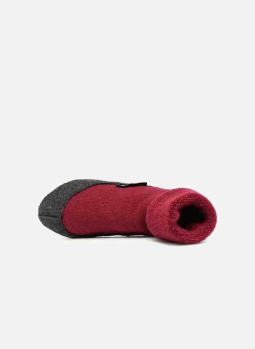 Socken & Strumpfhosen Falke Chaussons-chaussettes Cosyshoes rot ansicht von links