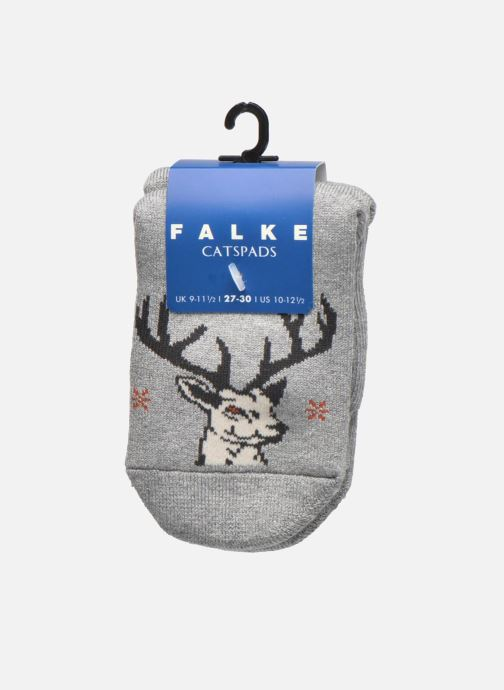 Chaussettes et collants Falke Chaussons-chaussettes My Dear Catspads Gris vue derrière