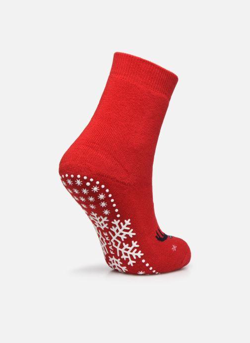 Chaussettes et collants Falke Chaussons-chaussettes My Dear Catspads Rouge vue portées chaussures