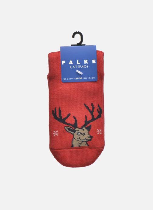 Chaussettes et collants Falke Chaussons-chaussettes My Dear Catspads Rouge vue derrière
