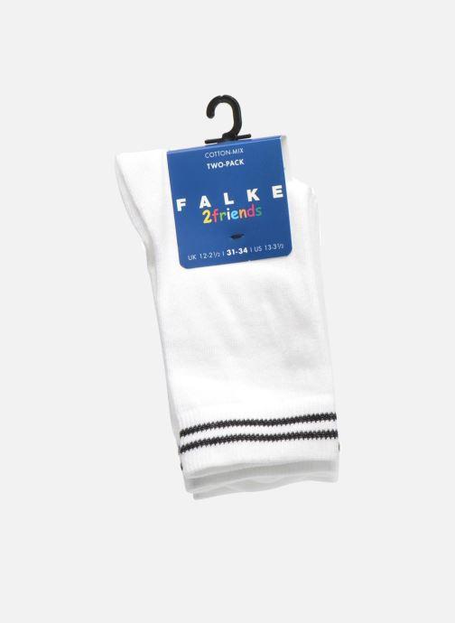 Chaussettes et collants Falke Chaussettes 2 Friends Blanc vue derrière