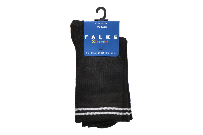 Socken & Strumpfhosen Falke Chaussettes 2 Friends schwarz ansicht von hinten