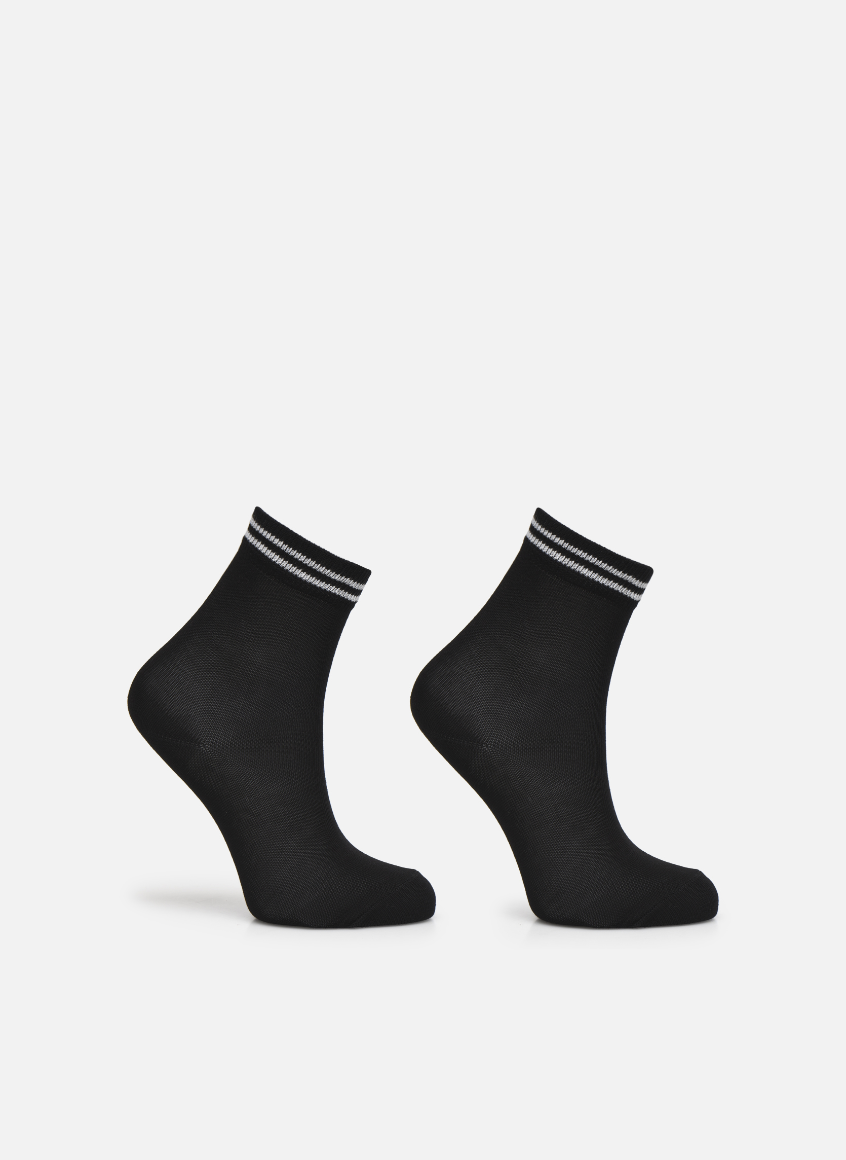Socks & tights Falke Chaussettes 2 Friends Black detailed view/ Pair view