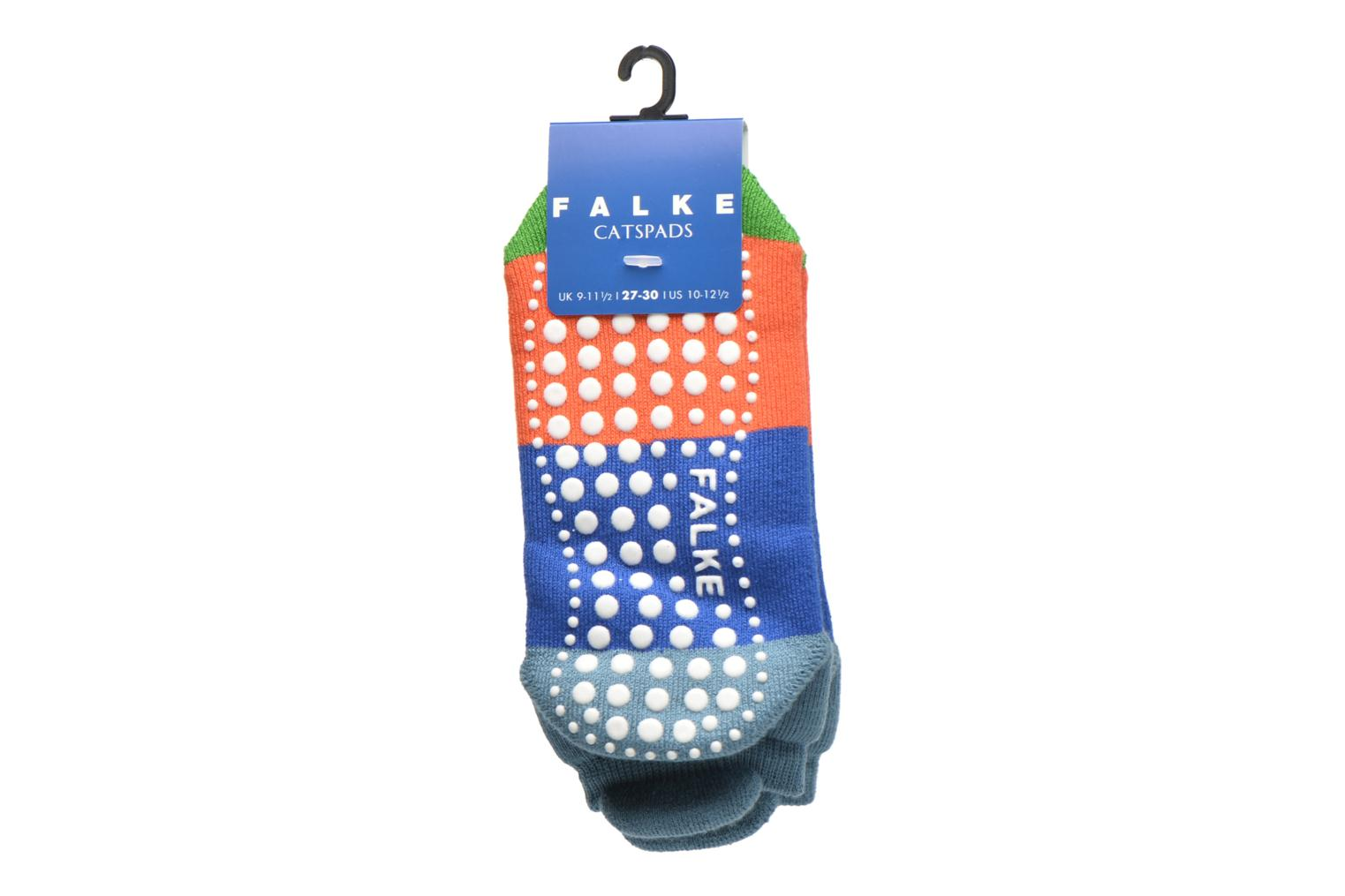 Socks & tights Falke Chaussons-chaussettes Colour Block Catspads Multicolor back view